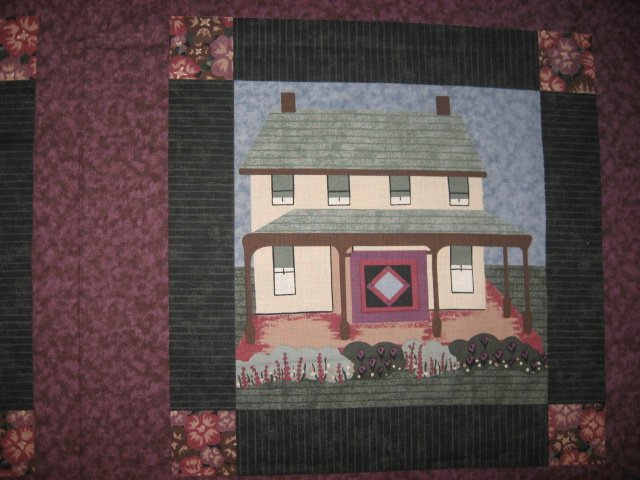 Almost Amish House Quilt Block pillow panel fabric to sew