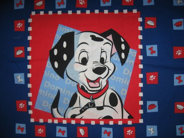 Image 1 of Disney Dalmatian Dogs Domino and Dipper Pillow panel fabric set of two to sew