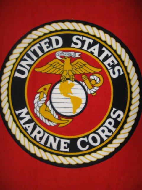 Image 0 of United States Marines Military Fleece Blanket