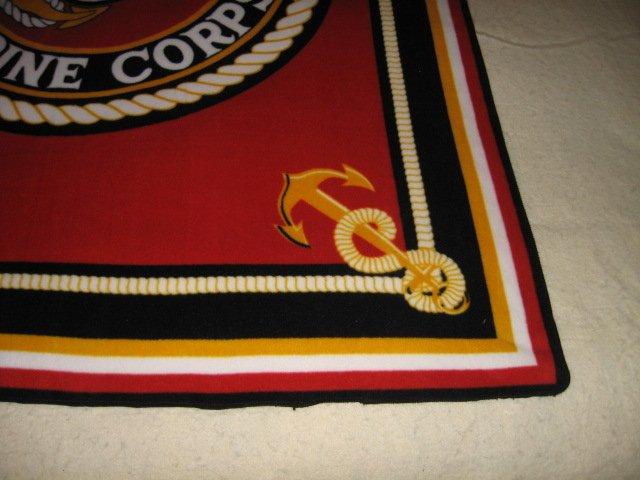 Image 2 of United States Marines Military Fleece Blanket