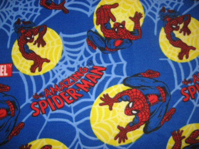 Image 0 of Spiderman Blue Very Soft Fleece Blanket Throw Handmade