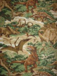Dinosaur realistic Jungle Beige Fleece Baby toddler comfort Blanket rare 40