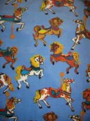 Carousel Horse Antipill handmade fleece baby blanket Rare fleece