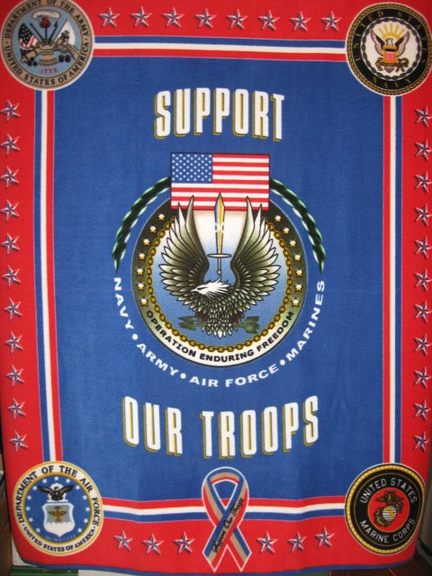 Support Our Troops United States Military Fleece Blanket