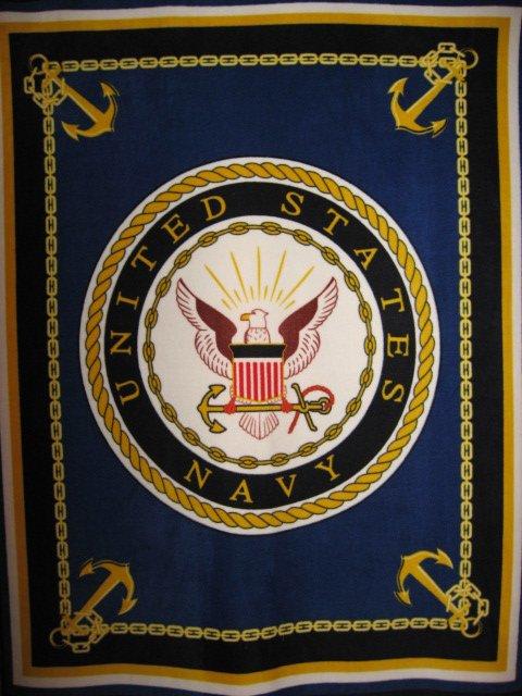 United States Navy Stars Flag Military Fleece Blanket
