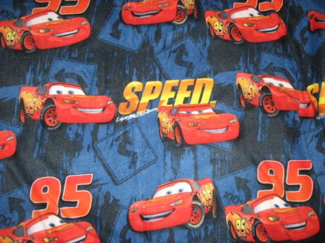 Licensed McQueen Pixar Cars Speed Child Bed Size Size homemade Fleece Blanket