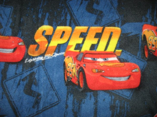 Image 1 of Licensed McQueen Pixar Cars Speed Child Bed Size Size homemade Fleece Blanket