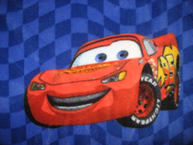 Image 1 of McQueen Pixar Cars blue Fleece Blanket Child Bed Size 45
