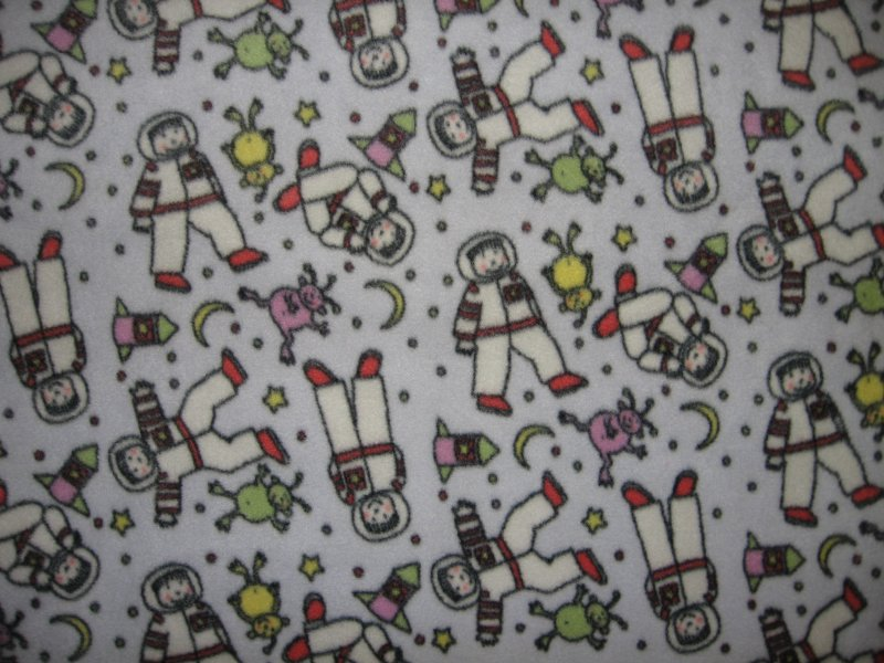 Image 0 of Spaceman Aliens rockets Child Bed Size Fleece blanket