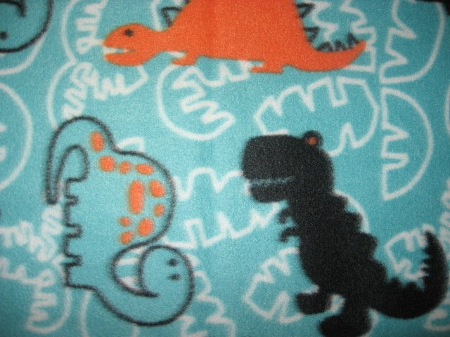 Image 1 of Dinosaurs bluegreen Fleece blanket large 36