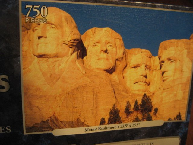 Image 1 of Mount Rushmore Peace dove and Mount Shuksan, Washington 3 deluxe sealed  puzzle