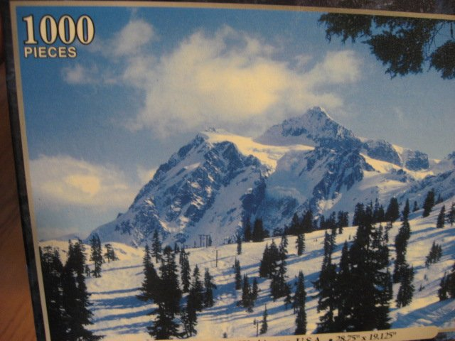 Image 2 of Mount Rushmore Peace dove and Mount Shuksan, Washington 3 deluxe sealed  puzzle