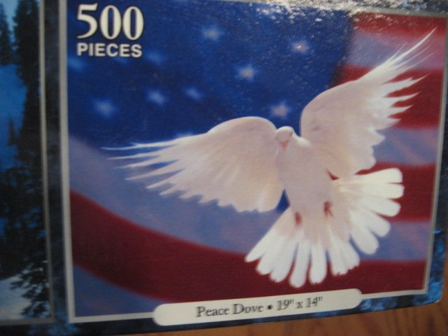 Image 3 of Mount Rushmore Peace dove and Mount Shuksan, Washington 3 deluxe sealed  puzzle