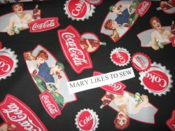 Coca Cola Fabric By The Yard http://www.prestostore.com/store.php?seller=fleeceandfabric&pd=4606101