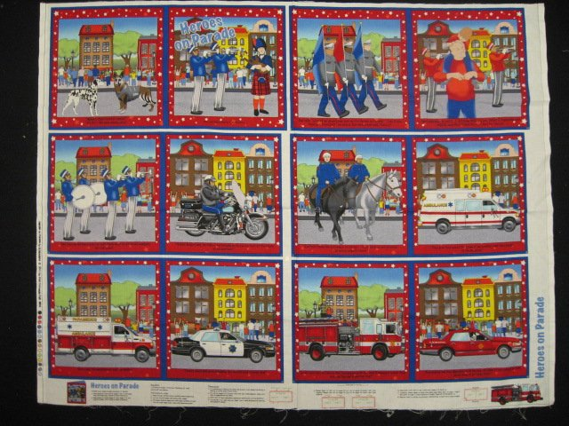 Image 0 of Heros on parade Fabric baby soft book to sew /