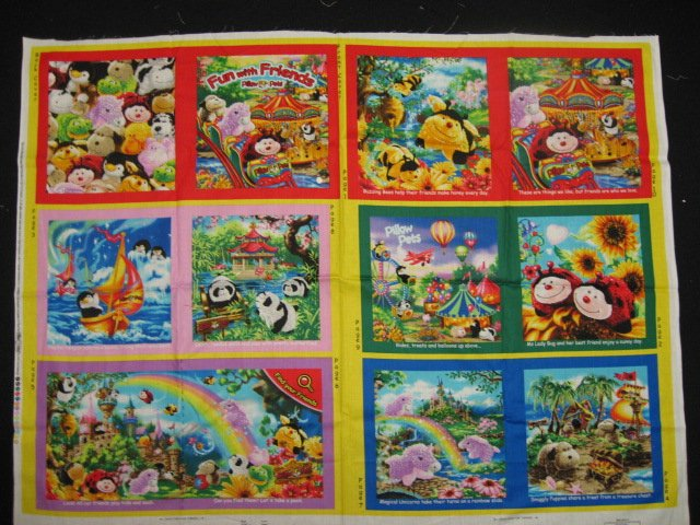 My Pillow Pets by Dona Gelsinger Fabric baby soft book to sew