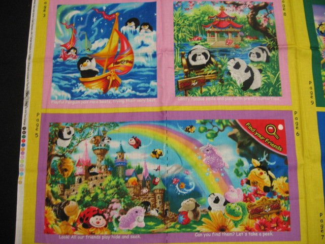 My Pillow Pets by Dona Gelsinger Fabric baby soft book to sew /