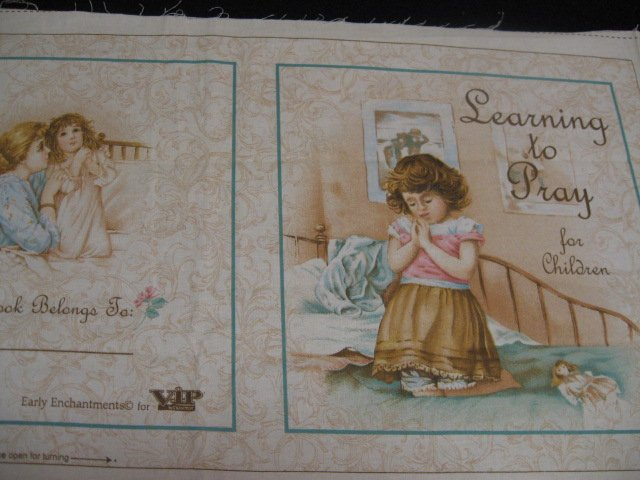 Prayer For Children Vintage Look Baby Soft Book Fabric