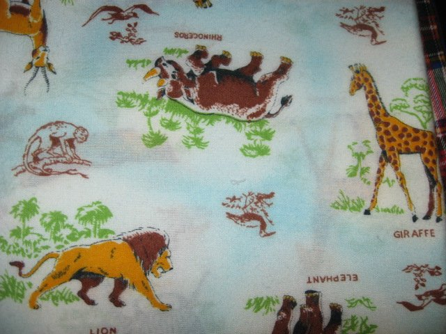 Safari Jungle Animals With Names Flannel Baby Blanket