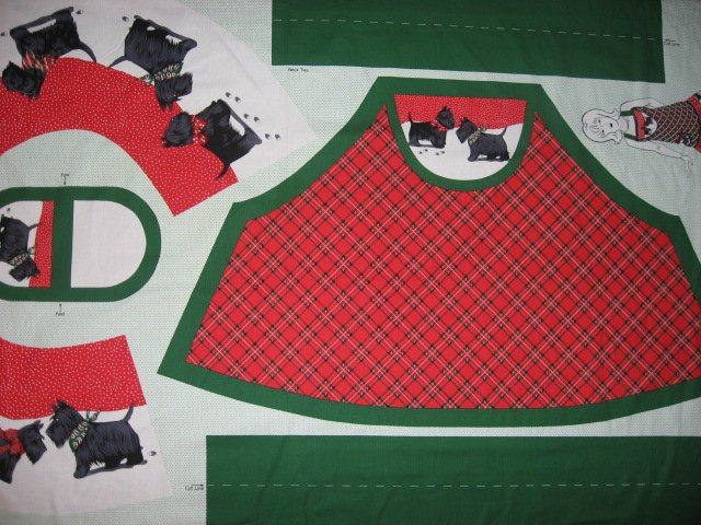 Scottish terrier Scotty aprons One cotton fabric apron panel with flounce U sew