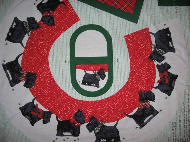 Image 1 of Scottish terrier Scotty aprons One cotton fabric apron panel with flounce U sew