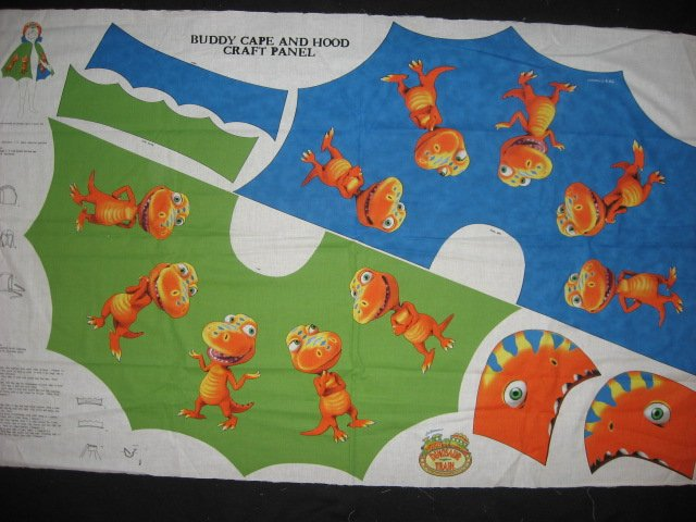 Image 0 of Licensed Dinosaur Buddy Cape and hood to sew for school play Halloween costume