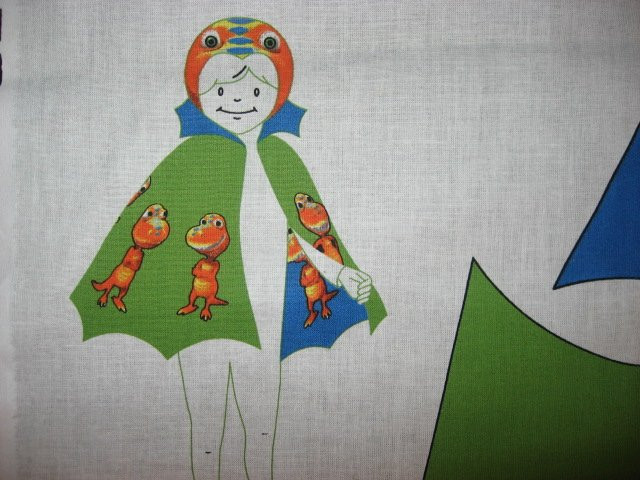 Image 1 of Licensed Dinosaur Buddy Cape and hood to sew for school play Halloween costume