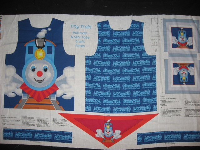 Tiny Train pull over and treat bag to sew for school play or Halloween costume