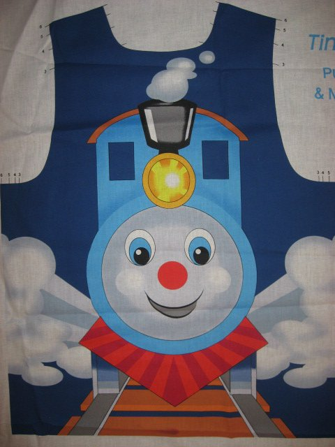 Image 1 of Tiny Train pull over and treat bag to sew for school play or Halloween costume