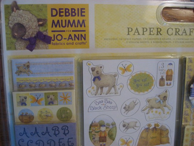 Image 1 of Debbie Mumm Paper Crafting Kit with baby brag book Stickers Paper Ribbon Letters
