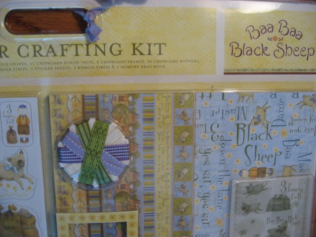 Image 2 of Debbie Mumm Paper Crafting Kit with baby brag book Stickers Paper Ribbon Letters