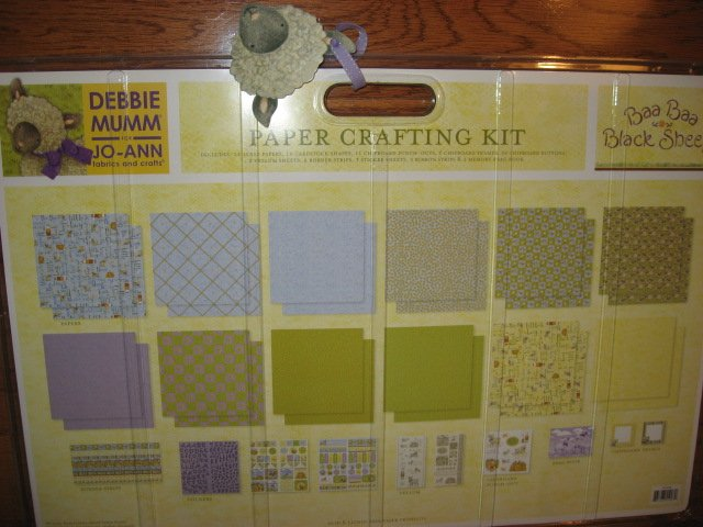 Image 5 of Debbie Mumm Paper Crafting Kit with baby brag book Stickers Paper Ribbon Letters