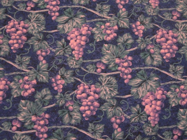 Image 0 of Grape and vines on beautiful purple cotton Quilt Fabric to sew by Avlyn