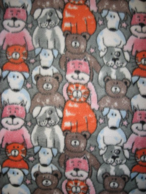 Dogs cats bears crate Fleece Blanket or for Toddler Day Care 29X36