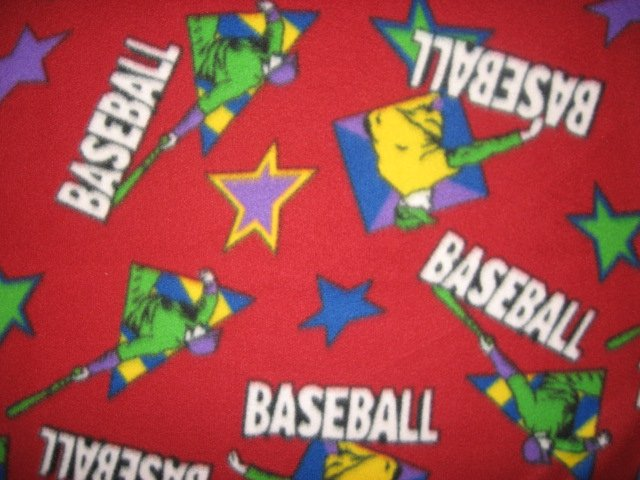 Baseball Child Bed size red Fleece Blanket Throw