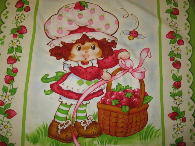 Image 1 of Strawberry Shortcakechild baby  Flannel blanket or Wall panel finished edge