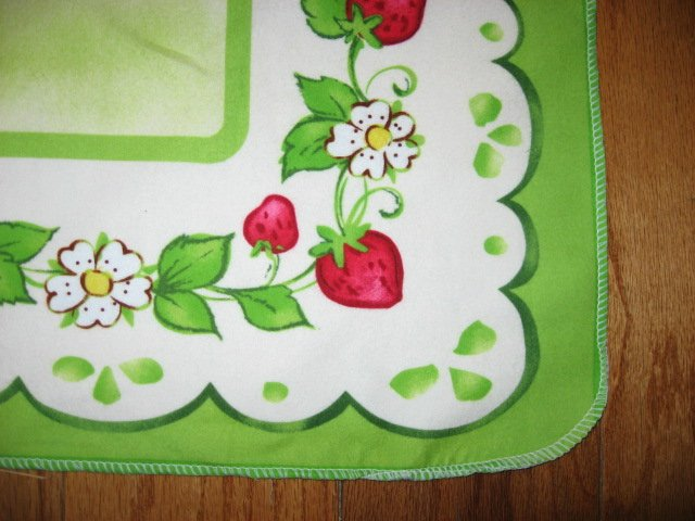 Image 2 of Strawberry Shortcakechild baby  Flannel blanket or Wall panel finished edge