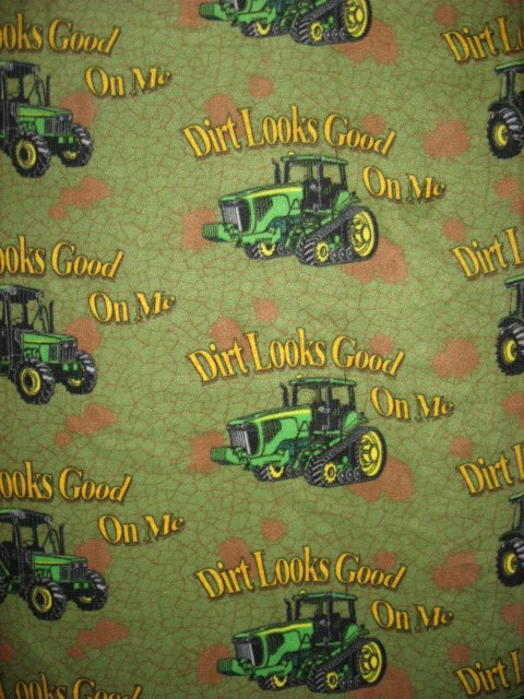 Image 0 of John Deere Tractors fleece bed blanket 60