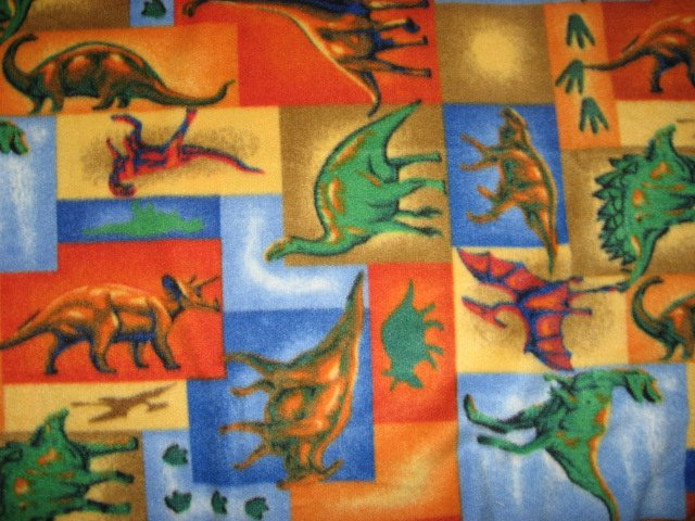Image 0 of Dinosaur colorful fleece bed blanket 46