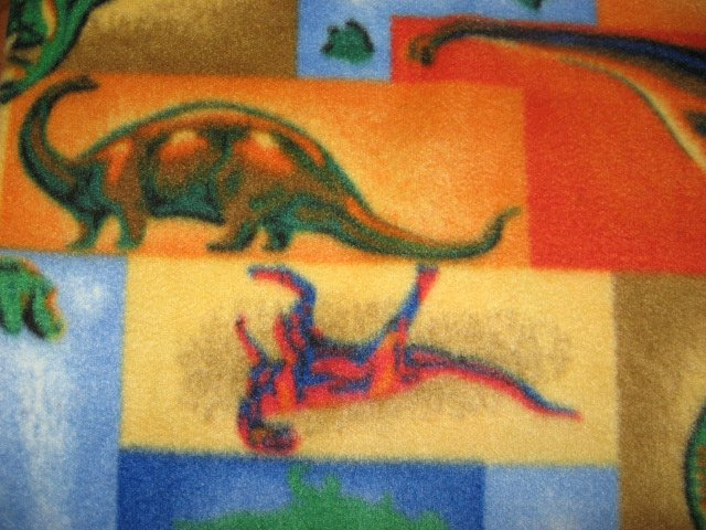 Image 1 of Dinosaur colorful fleece bed blanket 46