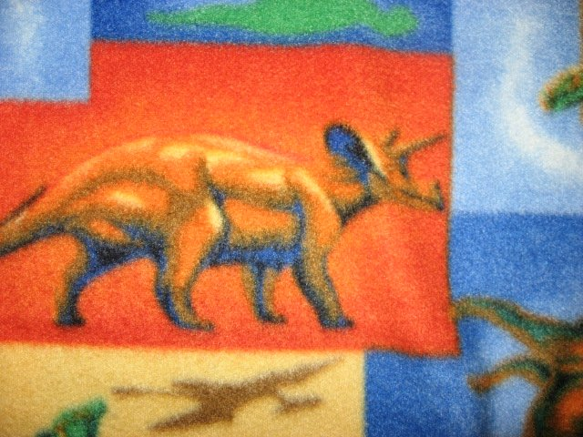 Image 2 of Dinosaur colorful fleece bed blanket 60