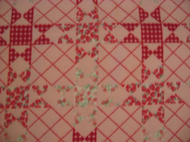 Image 0 of Floral quilt design fleece bed blanket 60