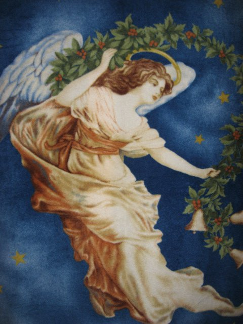 Pretty Angel in the sky stars Anti pill Fleece Blanket