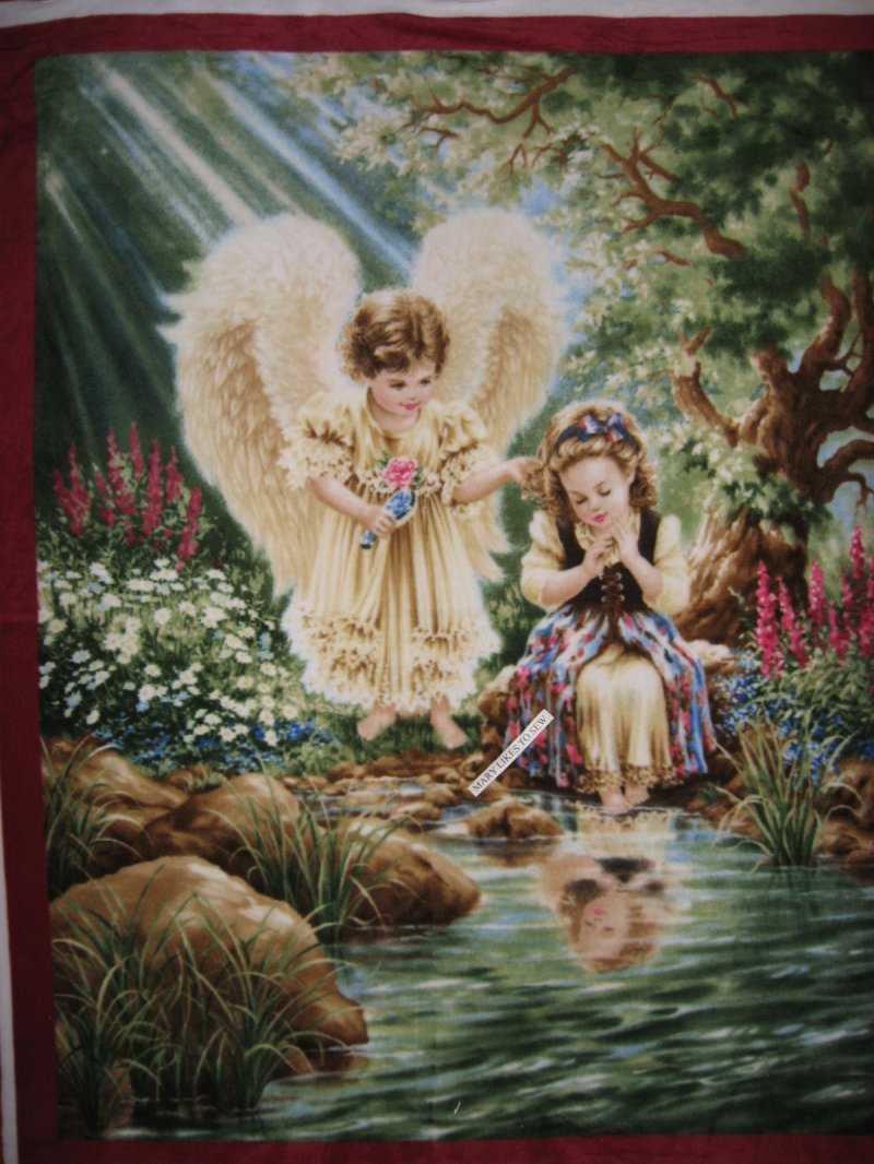 Angel at the pond Anti pill Fleece Blanket