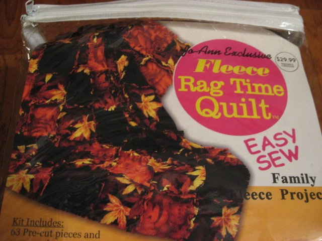Fall Leafs Easy Sew Fleece rag time Quilt Kit