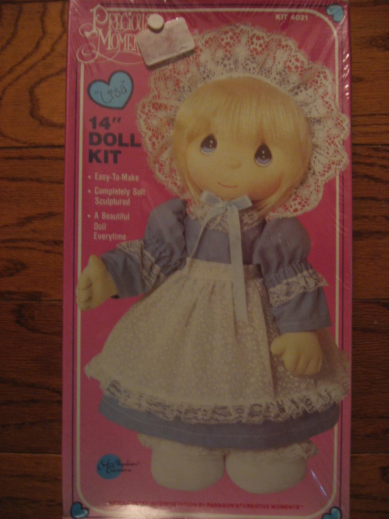 Lisa 1985 Doll kit Precious Moments Adorable fabric To Sew