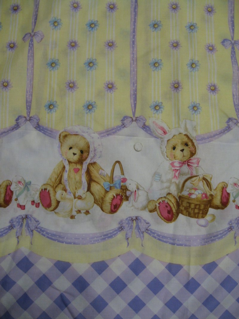 Image 0 of Daisy Kingdom Cherished Teddies lilac and yellow Fabric to sew 1999