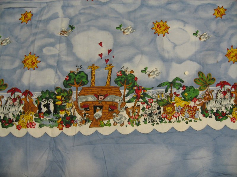 Noah's Ark Border Print  fabric to sew Alexander Henry 1995