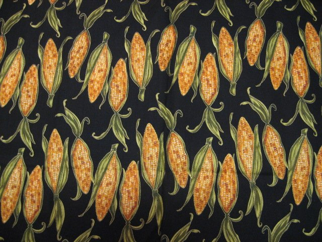 Corn on the cob cotton Fabric By The Yard soft sewing Fabric Traditions 2006