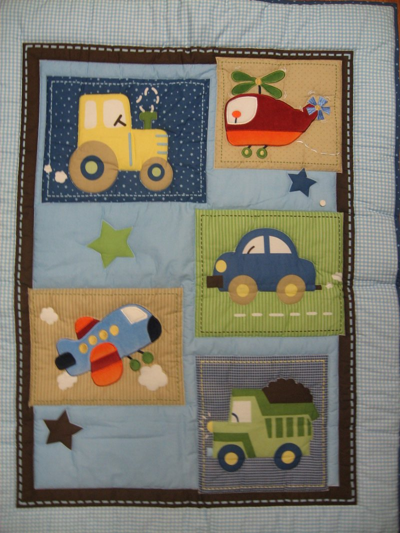 Transportation tractor Car Helicopter truck Child blanket crib Quilt for a boy